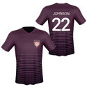 Personalized Plum Soccer Jersey